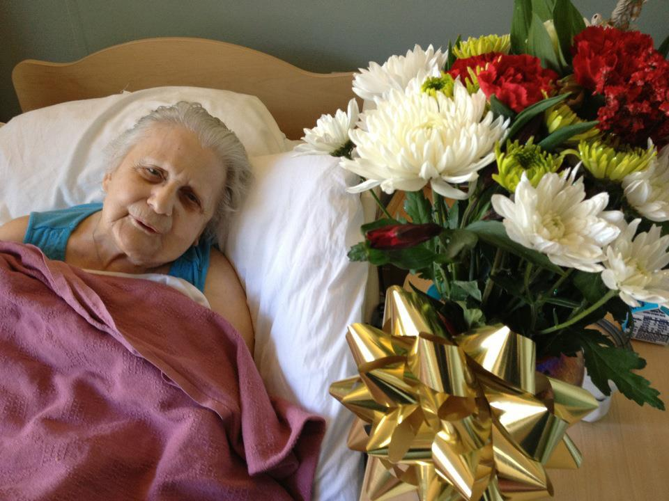 """Random Acts of Kindness - Meet my new friend Jodi. I came to the nursing home with flowers and asked to sit and visit with someone who doesn't get many people coming to see them. Jodi was thrilled to sit with me and tell me all about her amazing life. What a joy  Merry Christmas Jodi! You are loved."" ~Leigh"