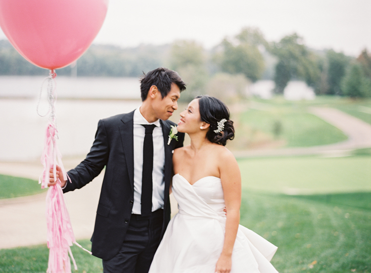 Pink Balloon Wedding