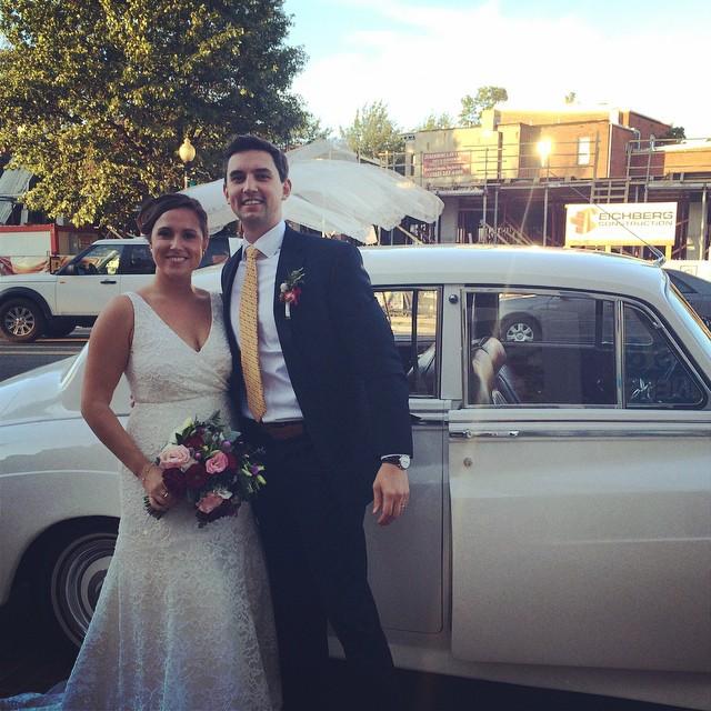 JoAnna Dee Weddings DC Bride and Groom Vintage Car