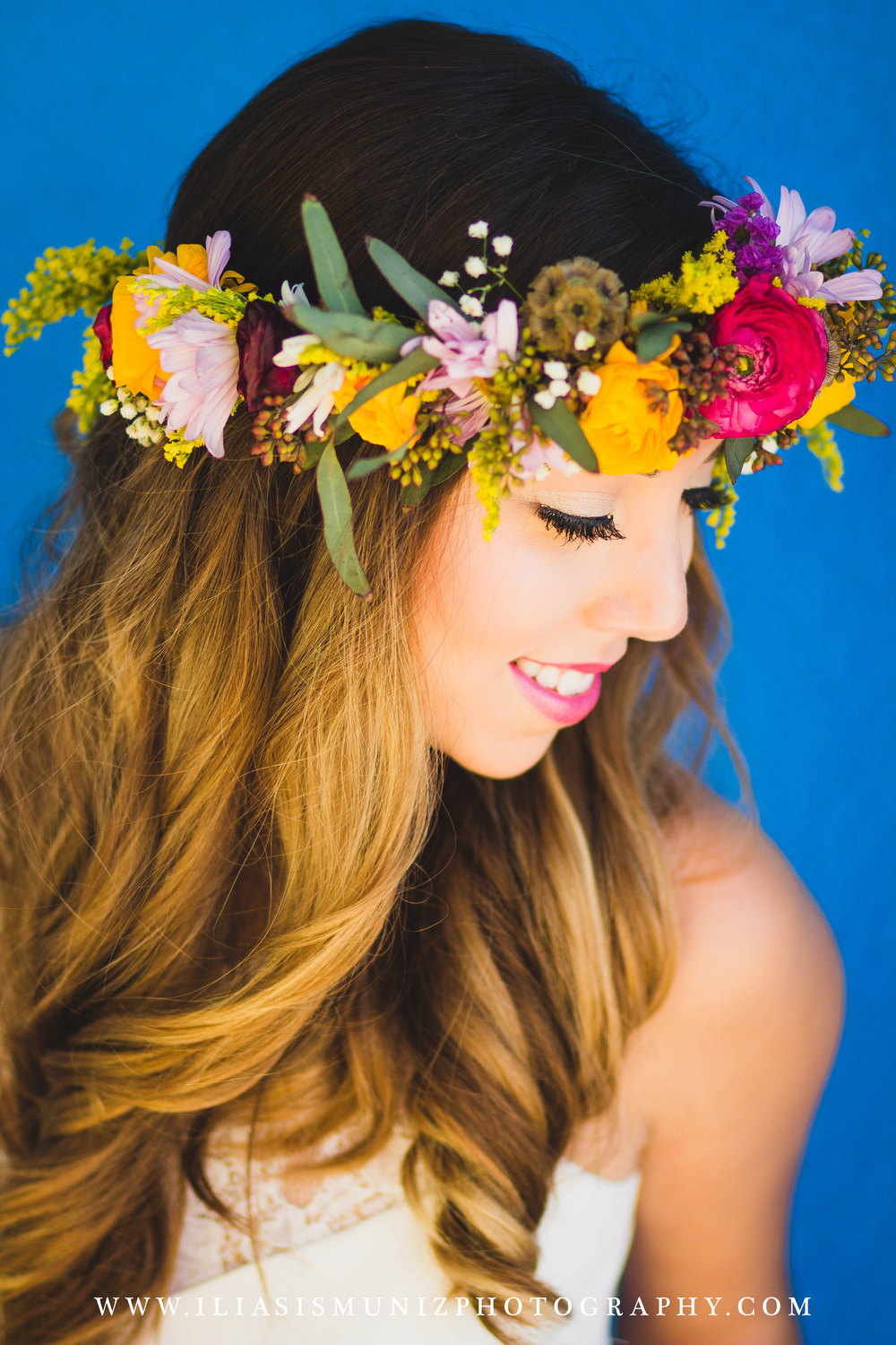 Yellow Floral Crown | South Padre Island Wedding Planner
