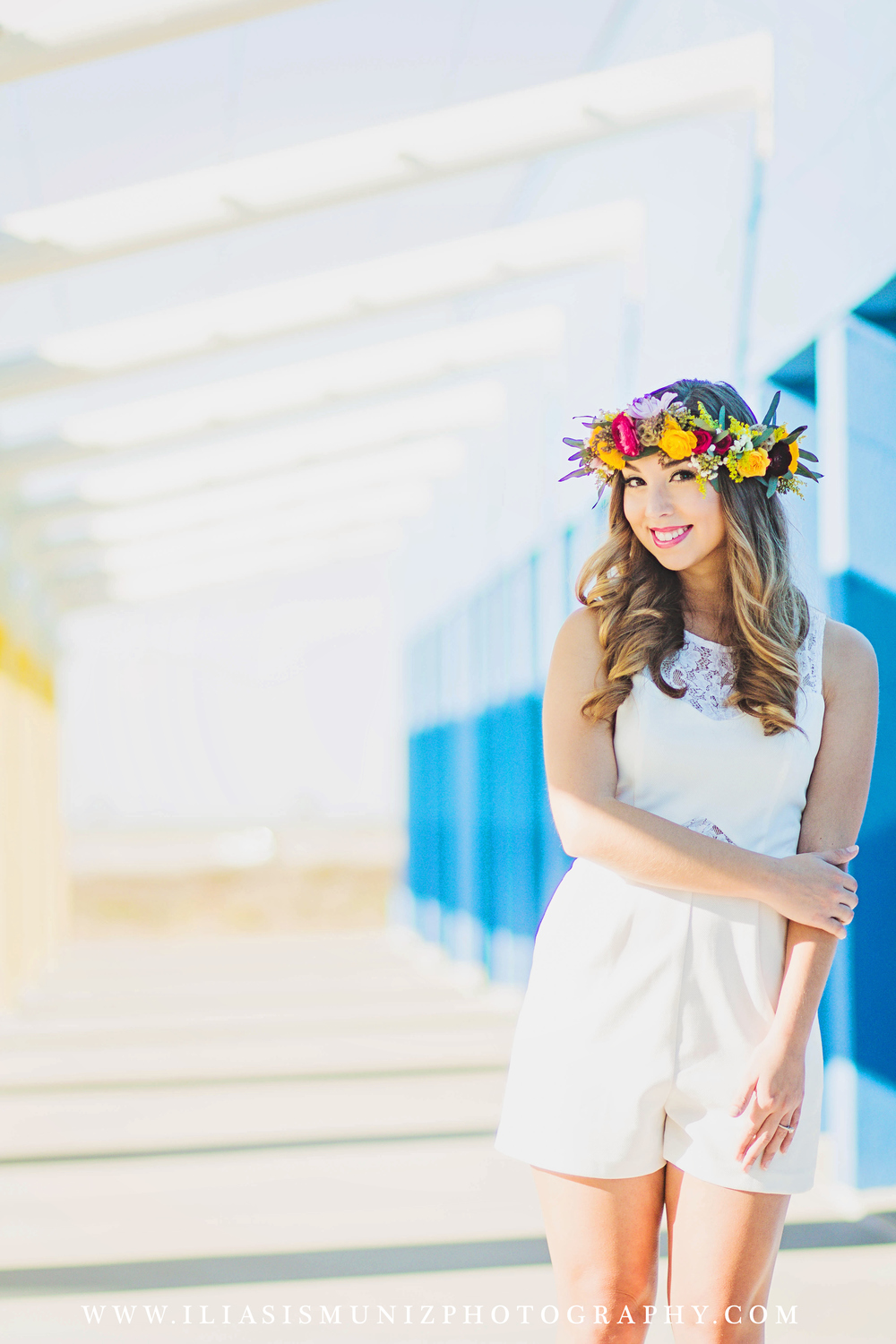 White Bridal Romper | South Padre Island Engagment