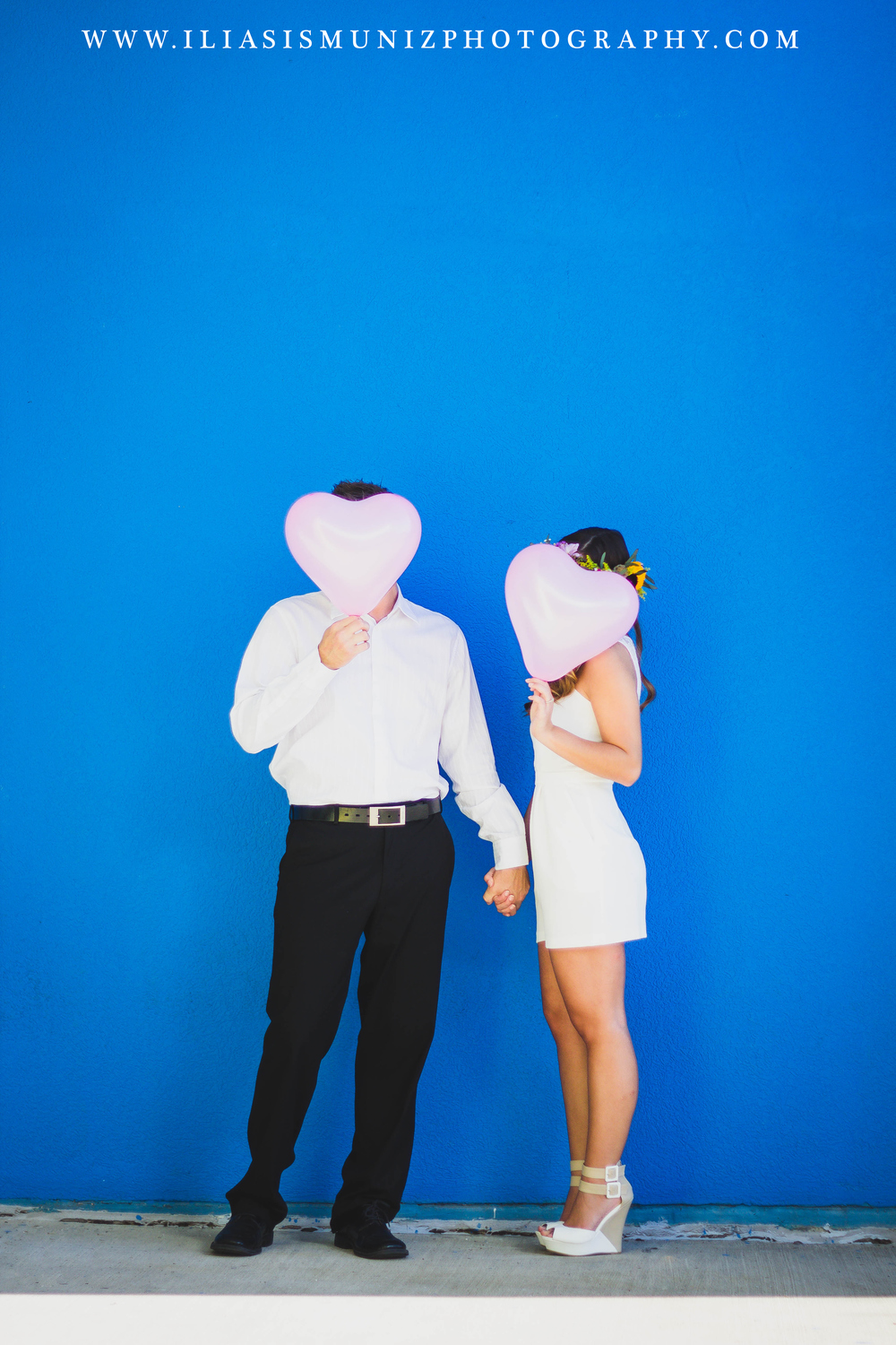 Pink Heart Balloons | South Padre Island Engagement Photo Shoot