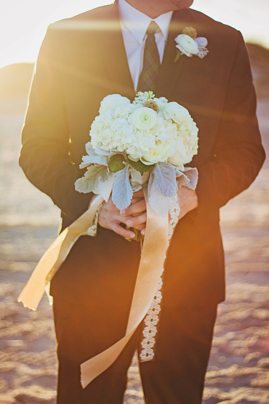 White Bouquet | Beach Wedding | JoAnna Dee Weddings