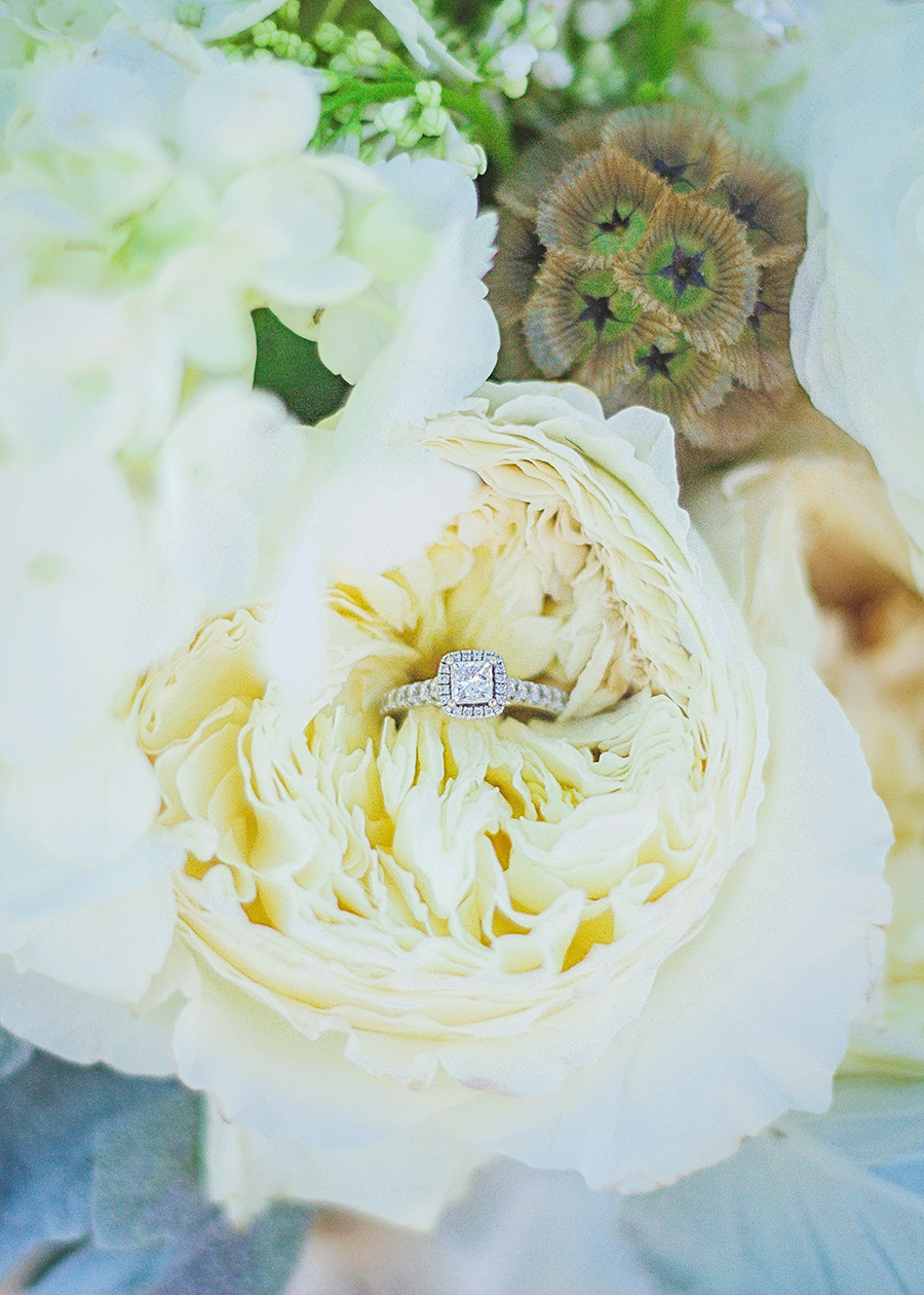 White bouquet | Beach Wedding