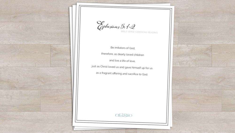 Ephesians 5: 1-2