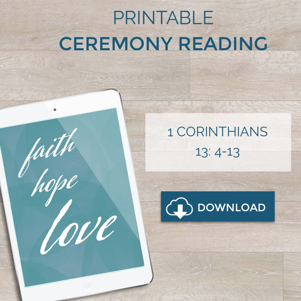 Free Speaker-Friendly Printable Ceremony Reading