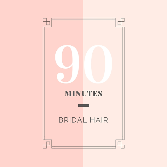Scheduling Bridal Hair