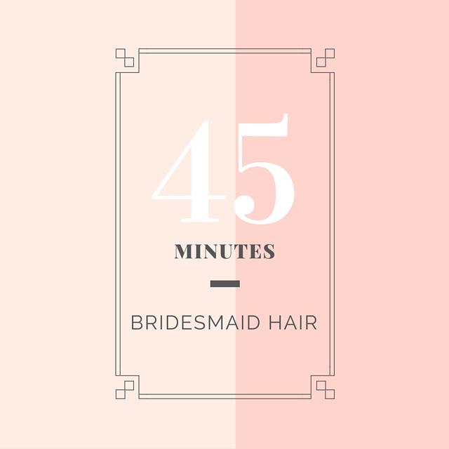 Scheduling Bridesmaid Hair