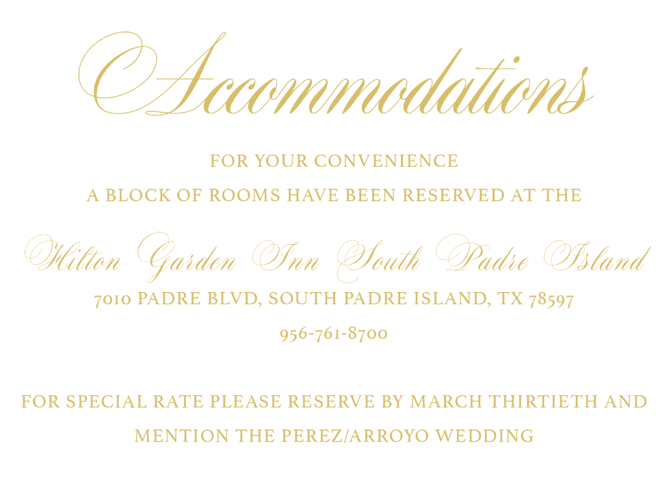Accommodations Card | Wedding Stationery