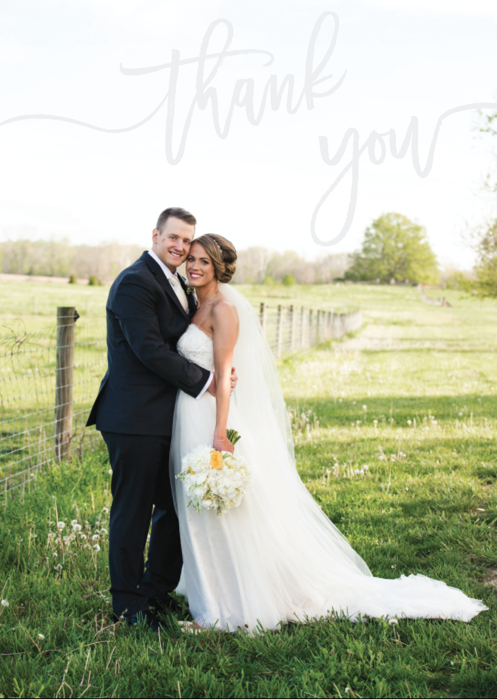 Wedding Thank You Card | Wedding Stationery