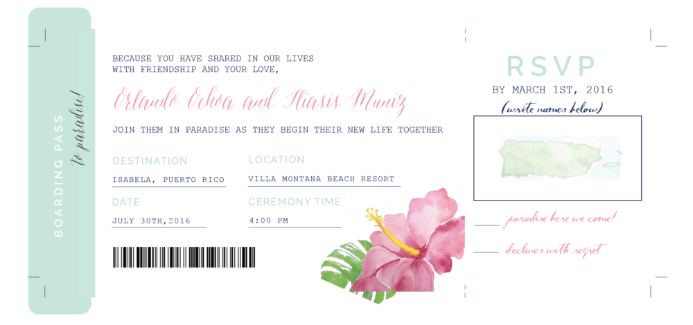 Destination Wedding Invitation | Wedding Stationery