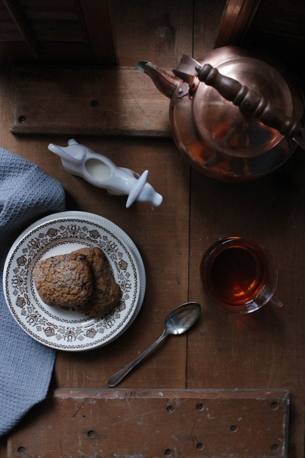 Gingerbread Scones with Dark Chocolate and Orange {Pedantic Foodie}