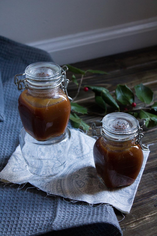 Eggnogg Caramel Sauce {Pedantic Foodie}