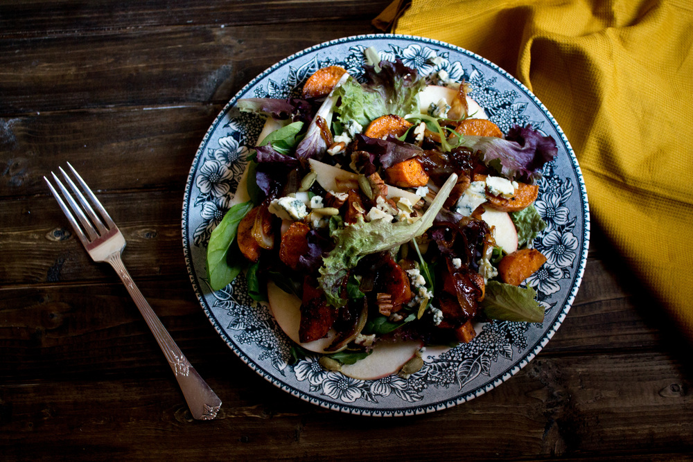 Sweet Potato - Apple Salad {Pedantic Foodie}