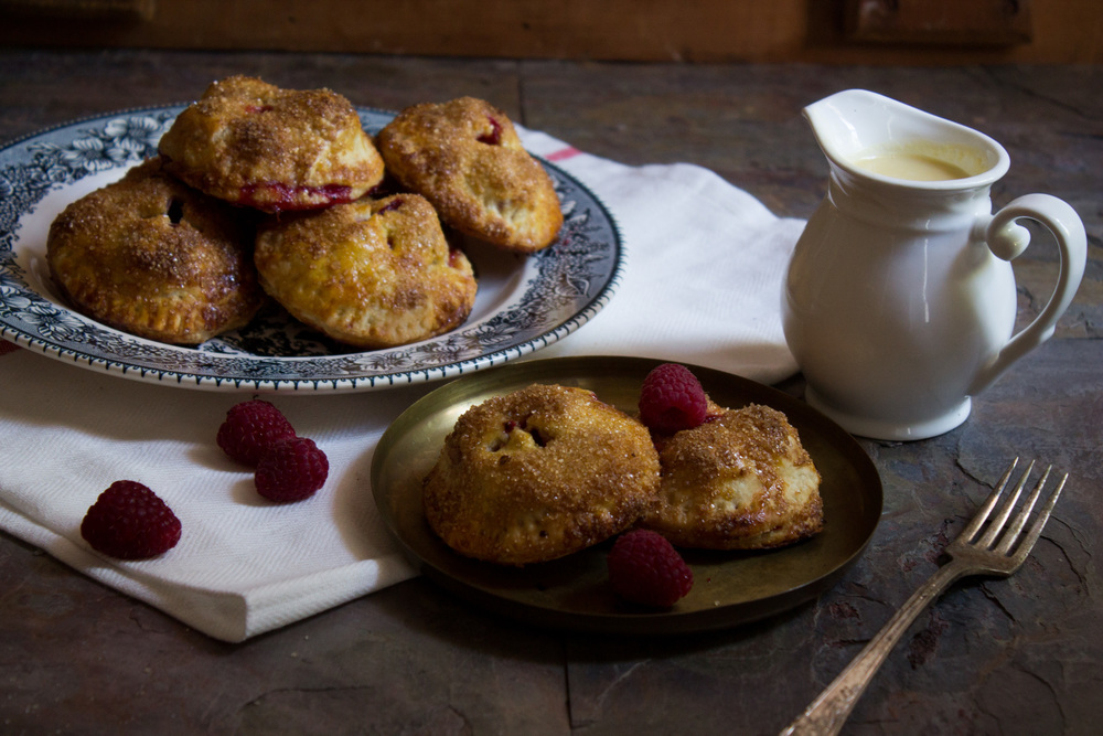 Raspberry Apple Hand Pies with Creme Anglaise {Pedantic Foodie}