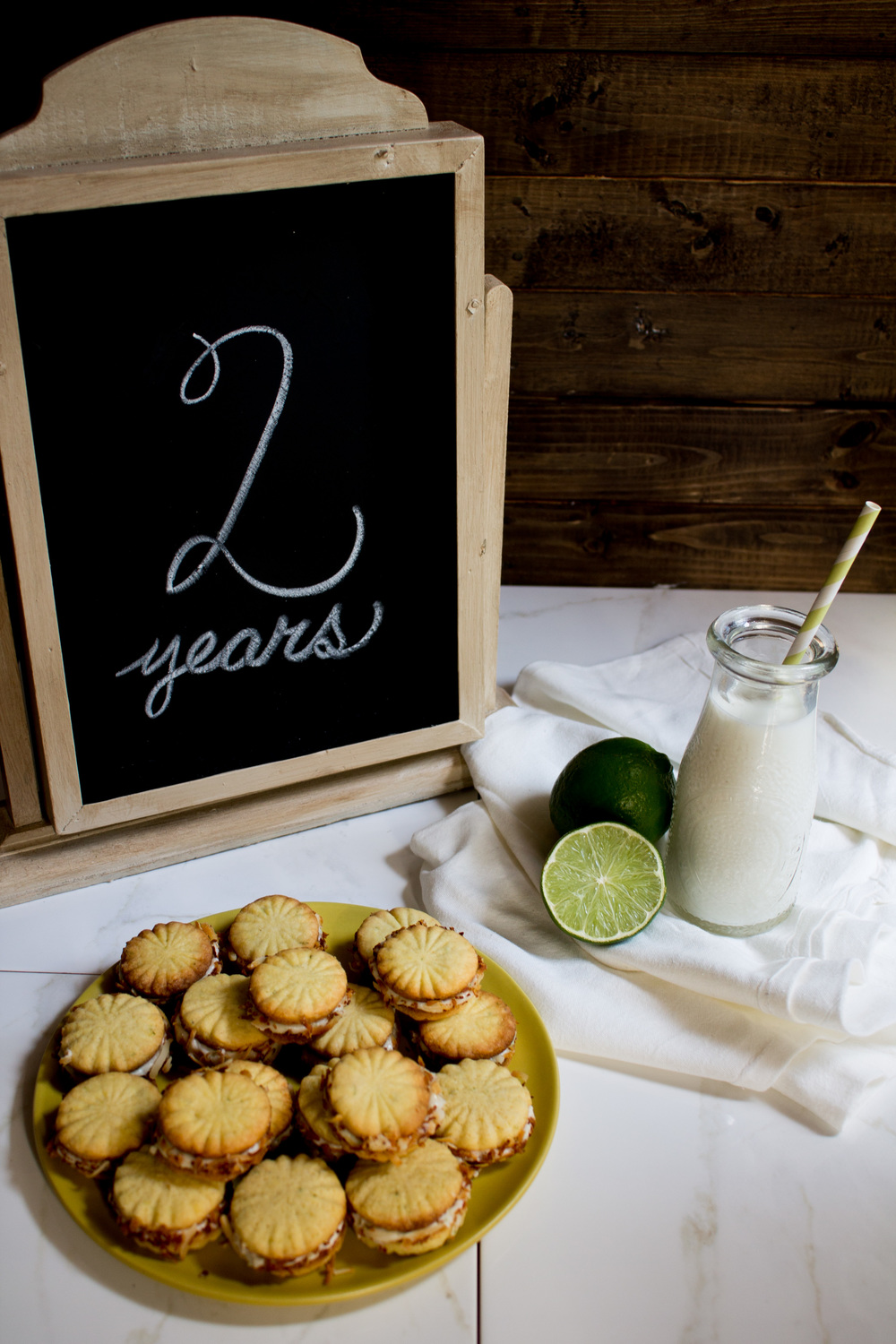 Coconut Lime Sandwich Cookies {Pedantic Foodie}
