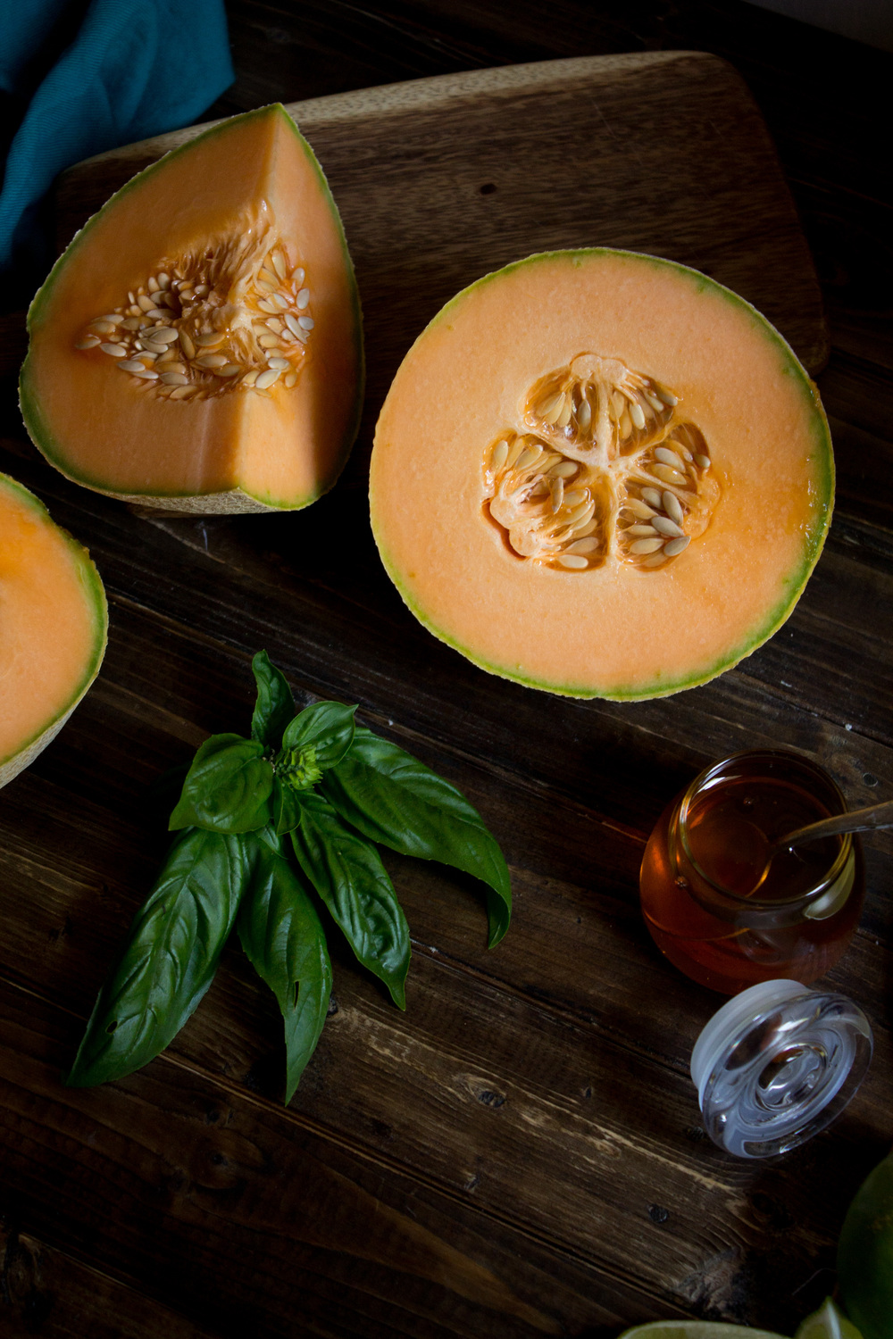 Muskmelon Salad with Aged Gouda {Pedantic Foodie}