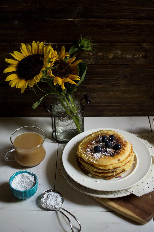 Blueberry Ricotta Pancakes {Pedantic Foodie}
