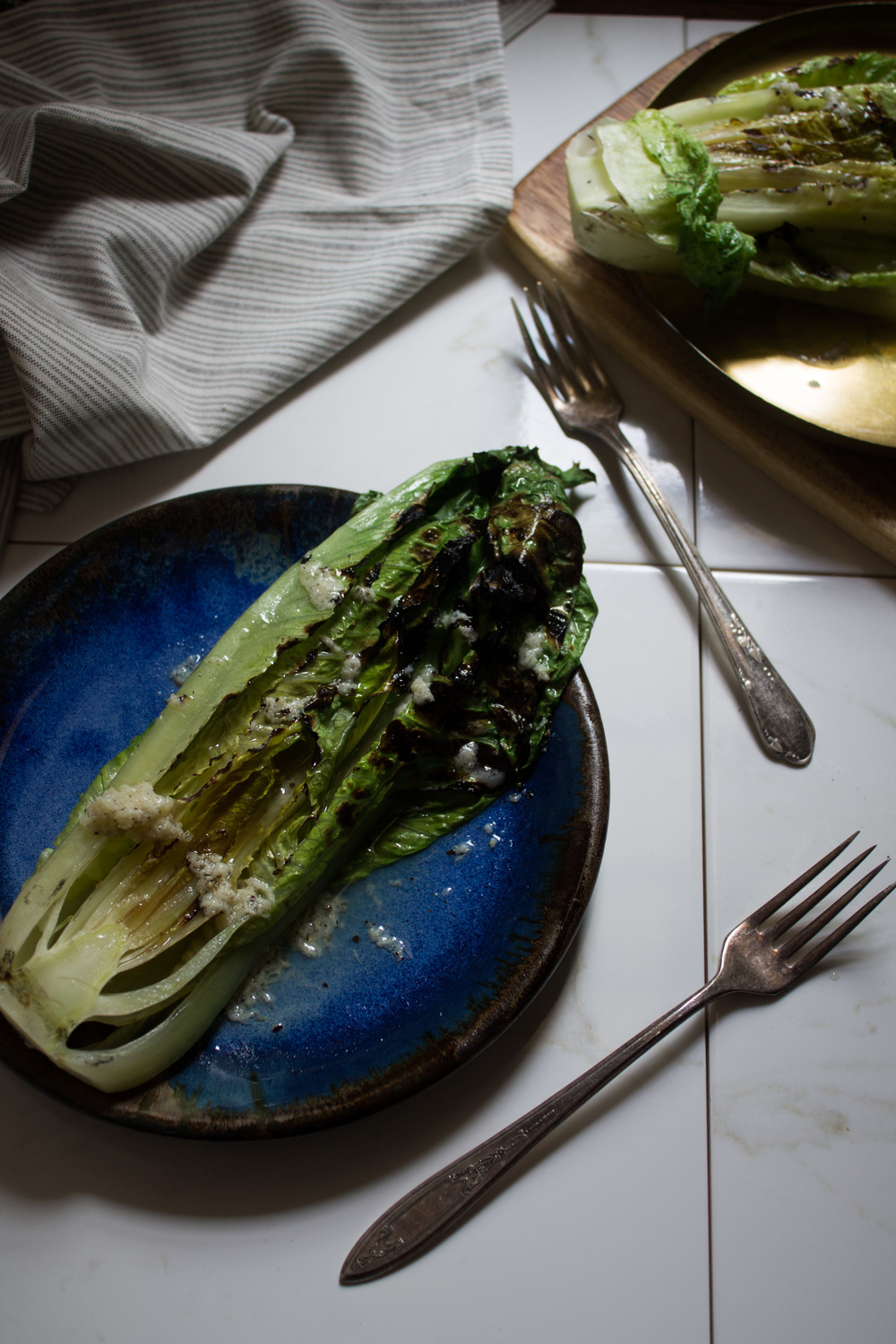Grilled Romaine Salad {Pedantic Foodie}