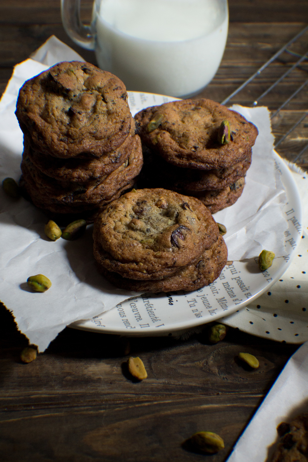 Salted Pistachio Cookies with Cherries and Dark Chocolate {Pedantic Foodie}