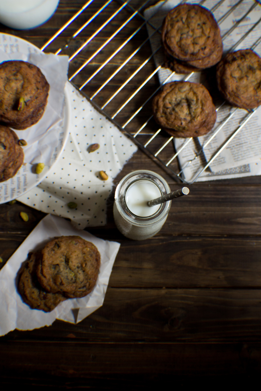 Salted Pistachio Cookies with Cherries & Dark Chocolate {Pedantic Foodie}