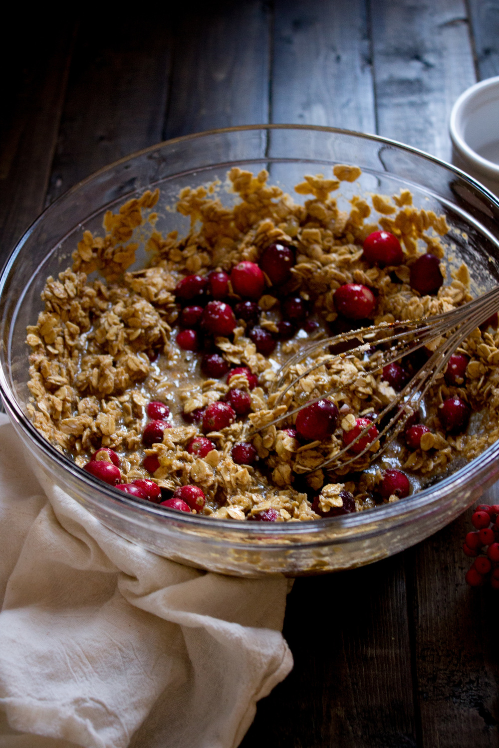 Cranberry Gingerbread Oatmeal Bake {Pedantic Foodie}