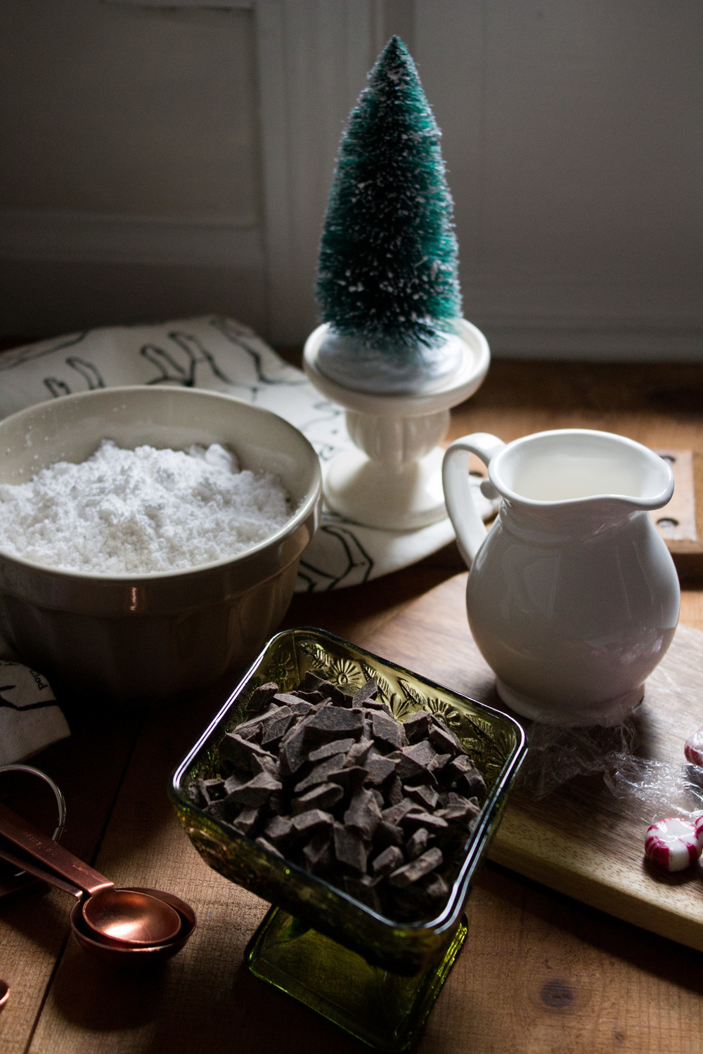 Dark Chocolate Peppermint Cremes {Pedantic Foodie}