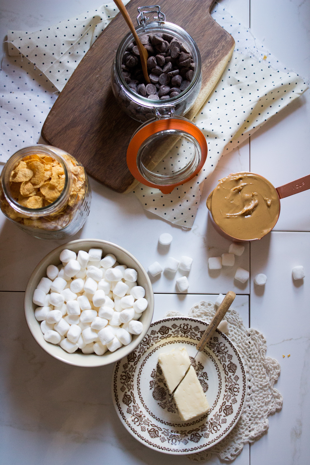 Peanut Butter and Chocolate Marshmallow Treats {Pedantic Foodie}