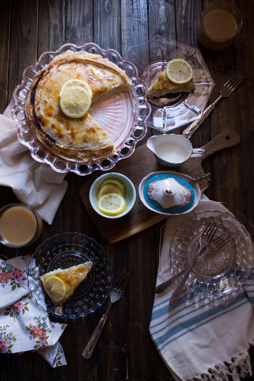 Brûléed Lemon Crepe Cake {Pedantic Foodie}