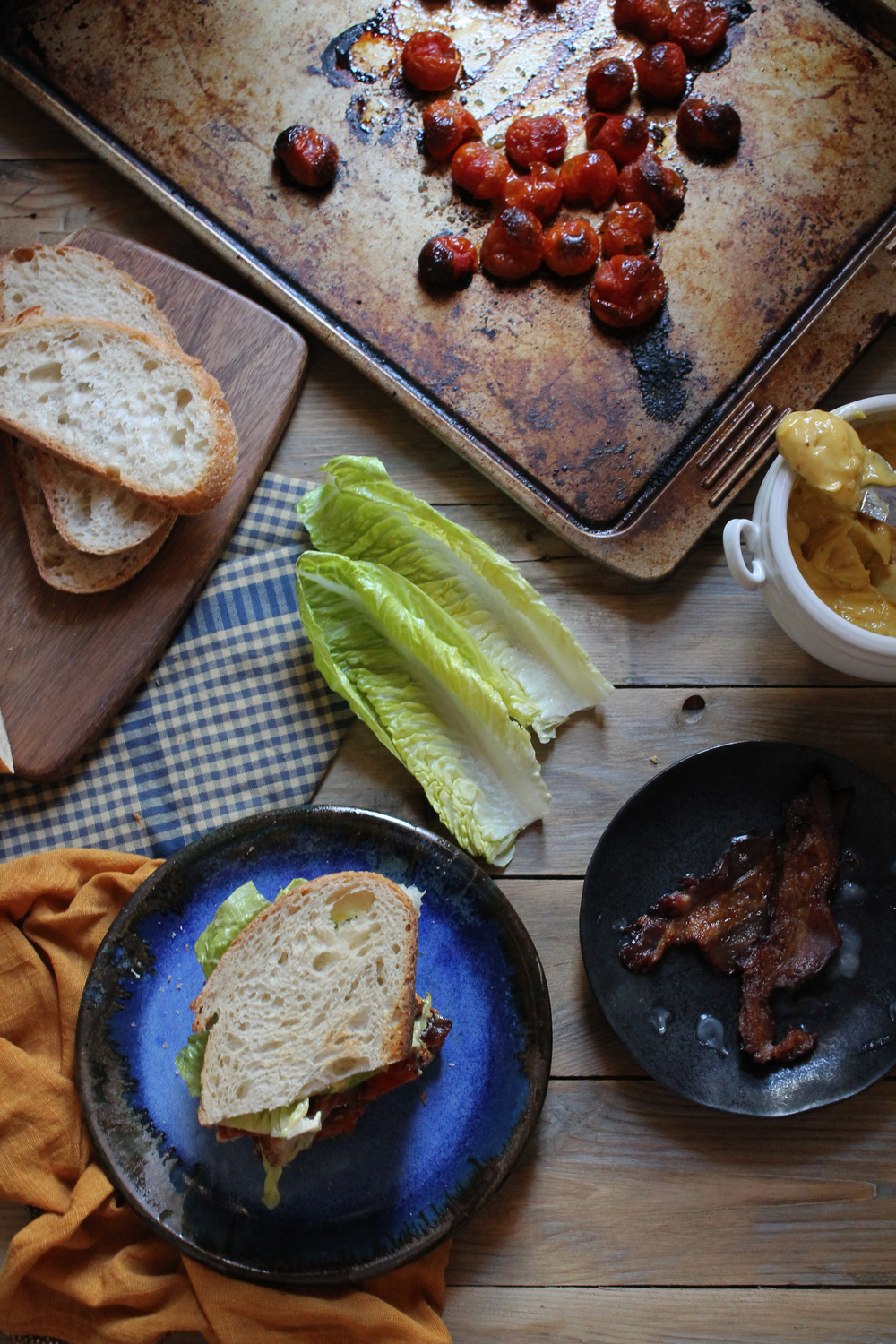 Roasted Tomato BLT with Roasted Garlic Mayonnaise {Pedantic Foodie}