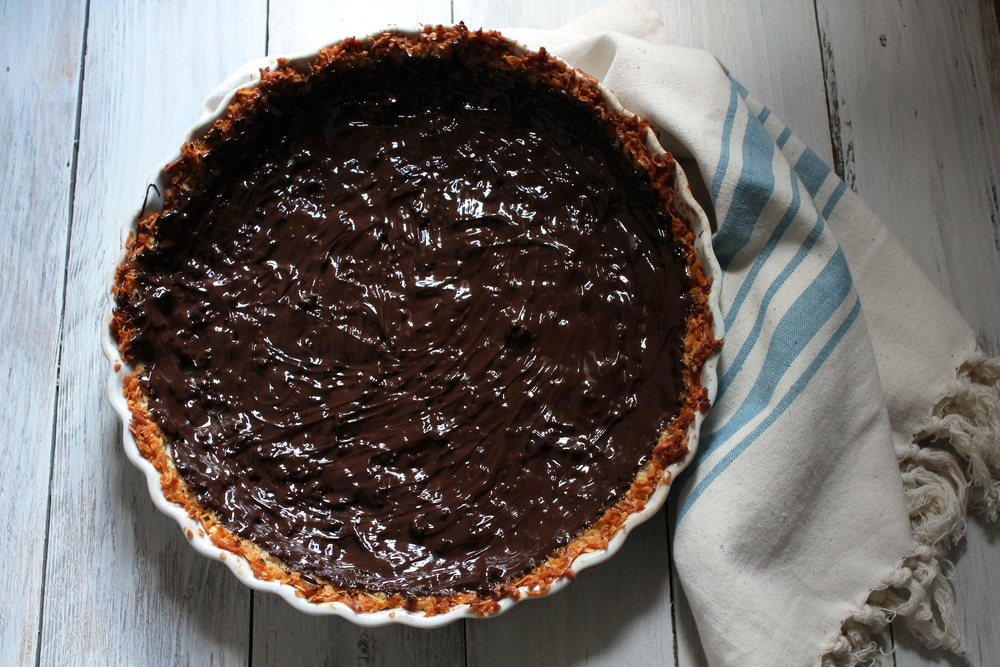 Chocolate Covered Almond Macaroon Pie {Pedantic Foodie}