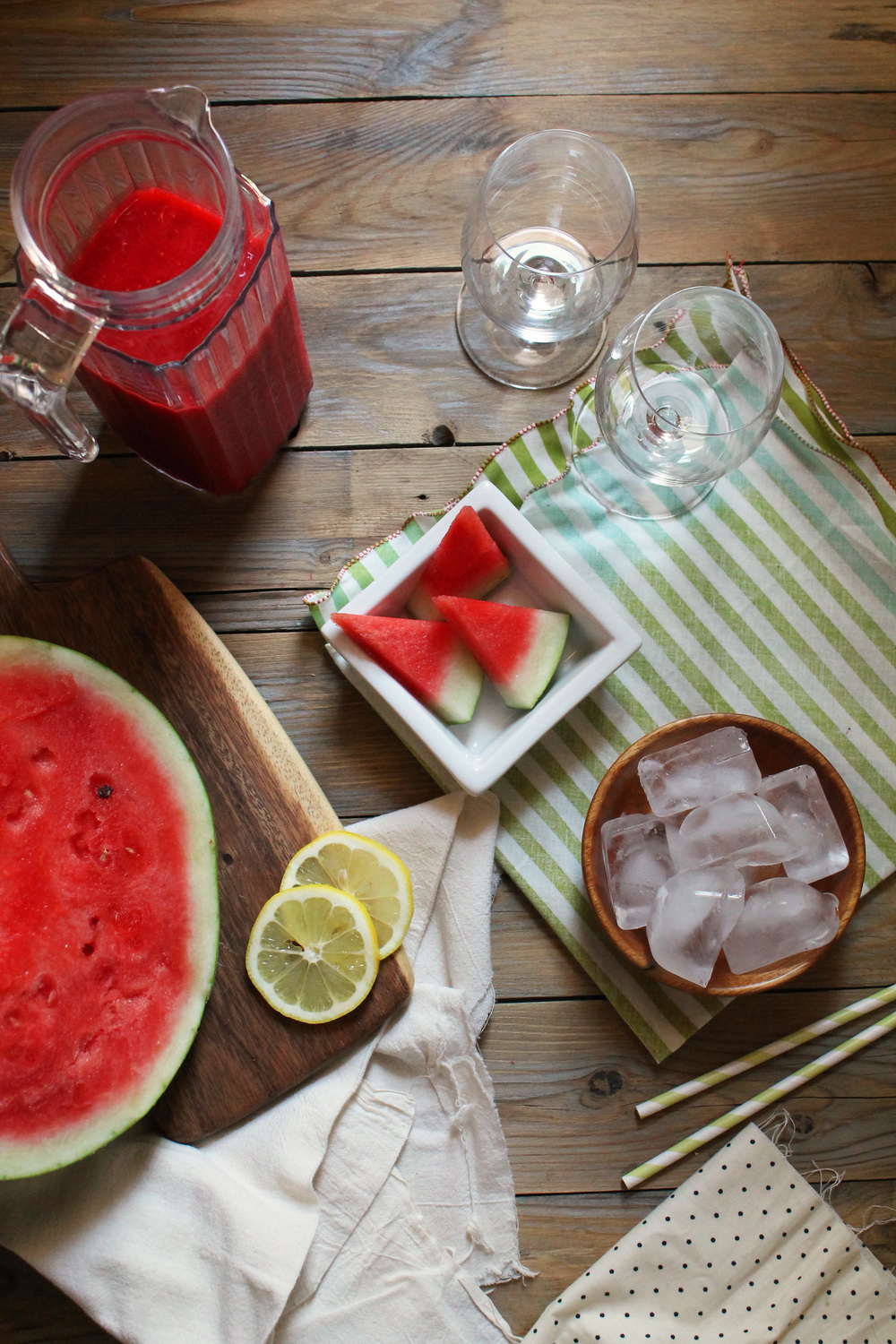Watermelon & Raspberry Lemon Slushie {Pedantic Foodie}