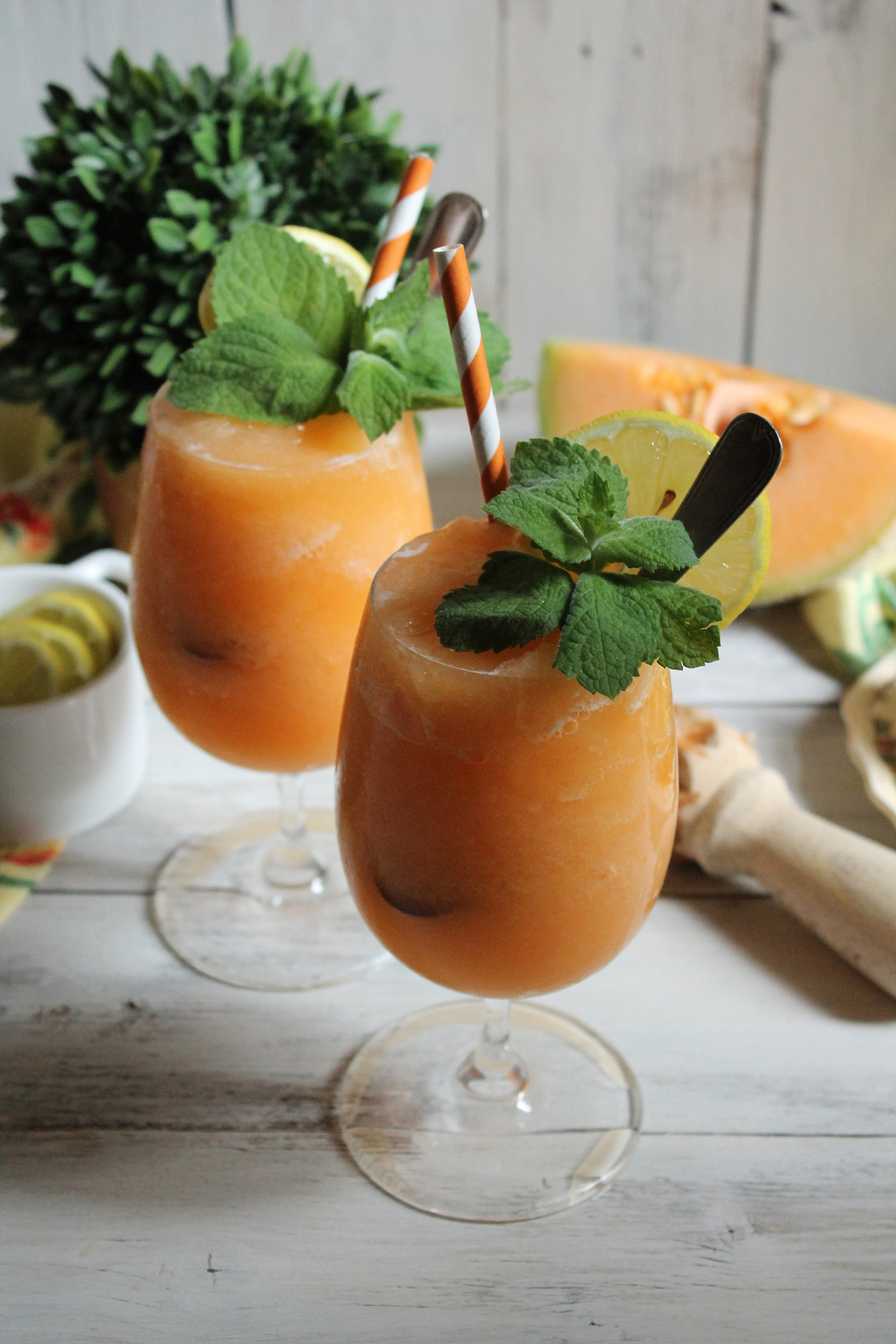 Muskmelon Frozen Lemonade {Pedantic Foodie}
