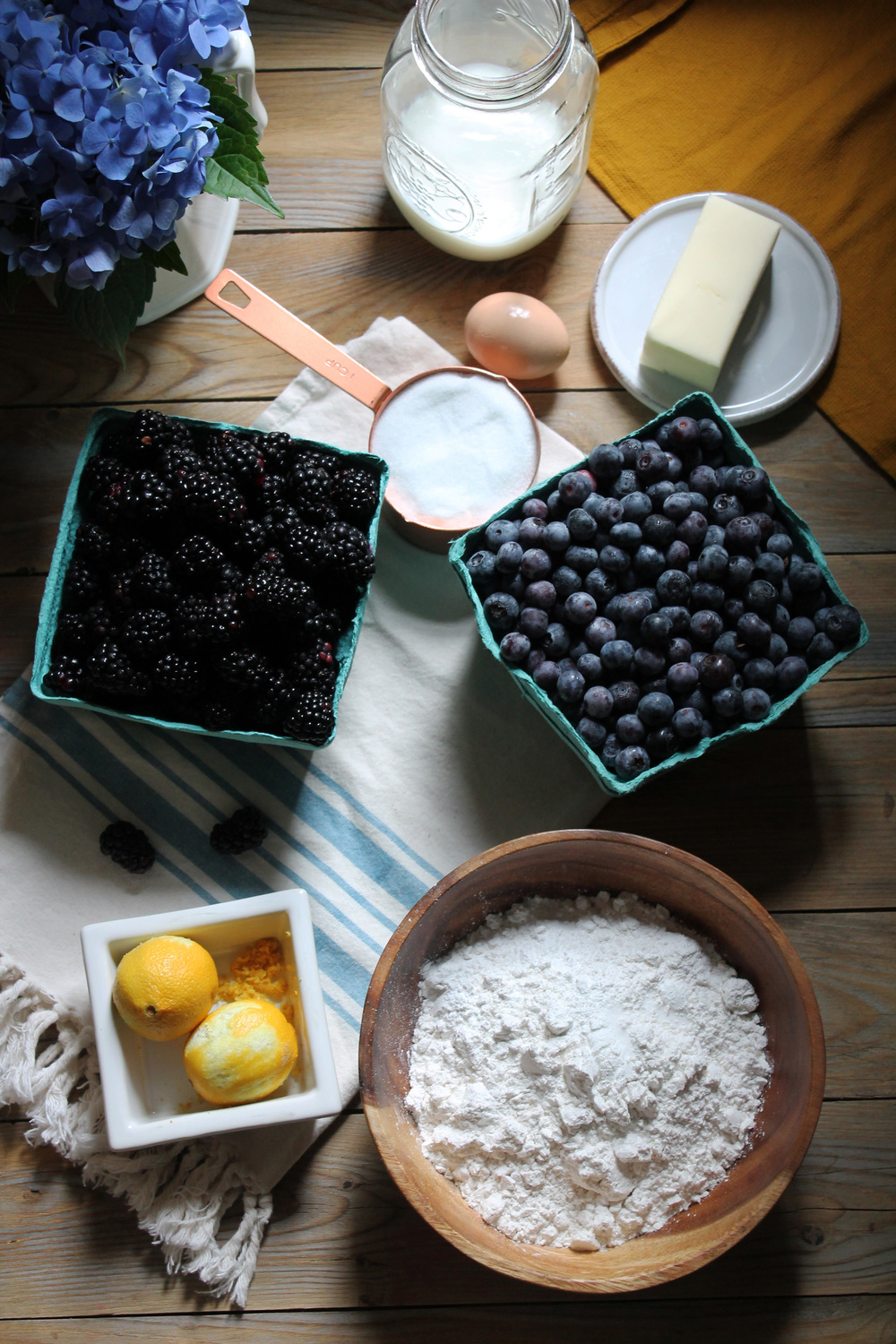 Mixed Berry Lemon Breakfast Cake {Pedantic Foodie}
