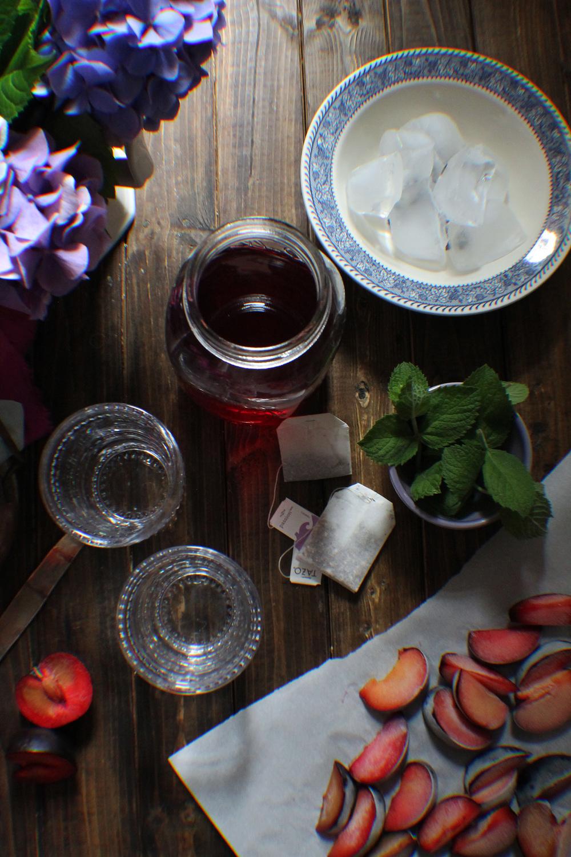 Plum & Hibiscus Tea {Pedantic Foodie}