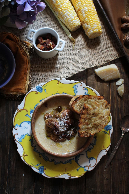Creamy Corn Bisque {Pedantic Foodie}