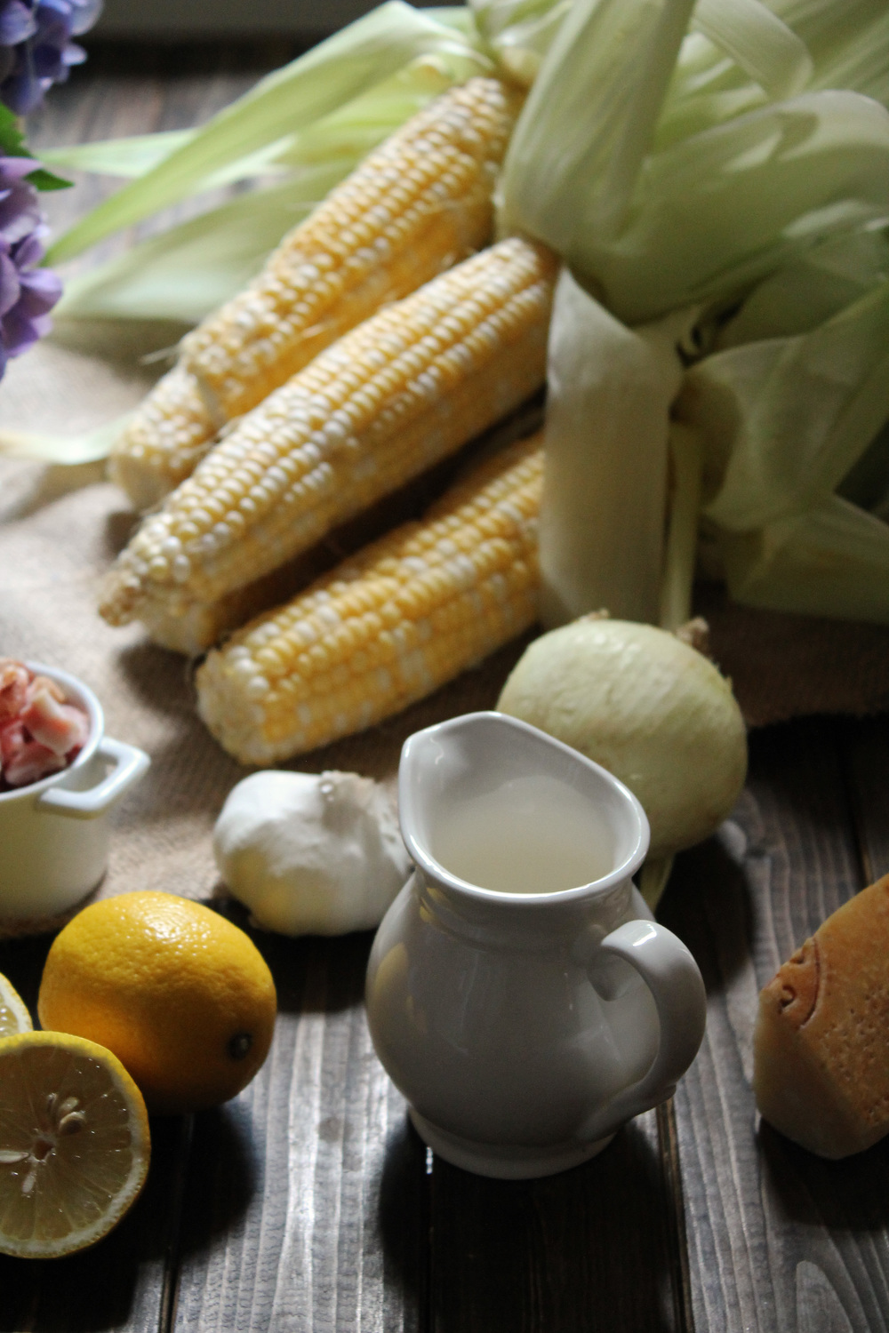 Creamy Sweet Corn Bisque {Pedantic Foodie}