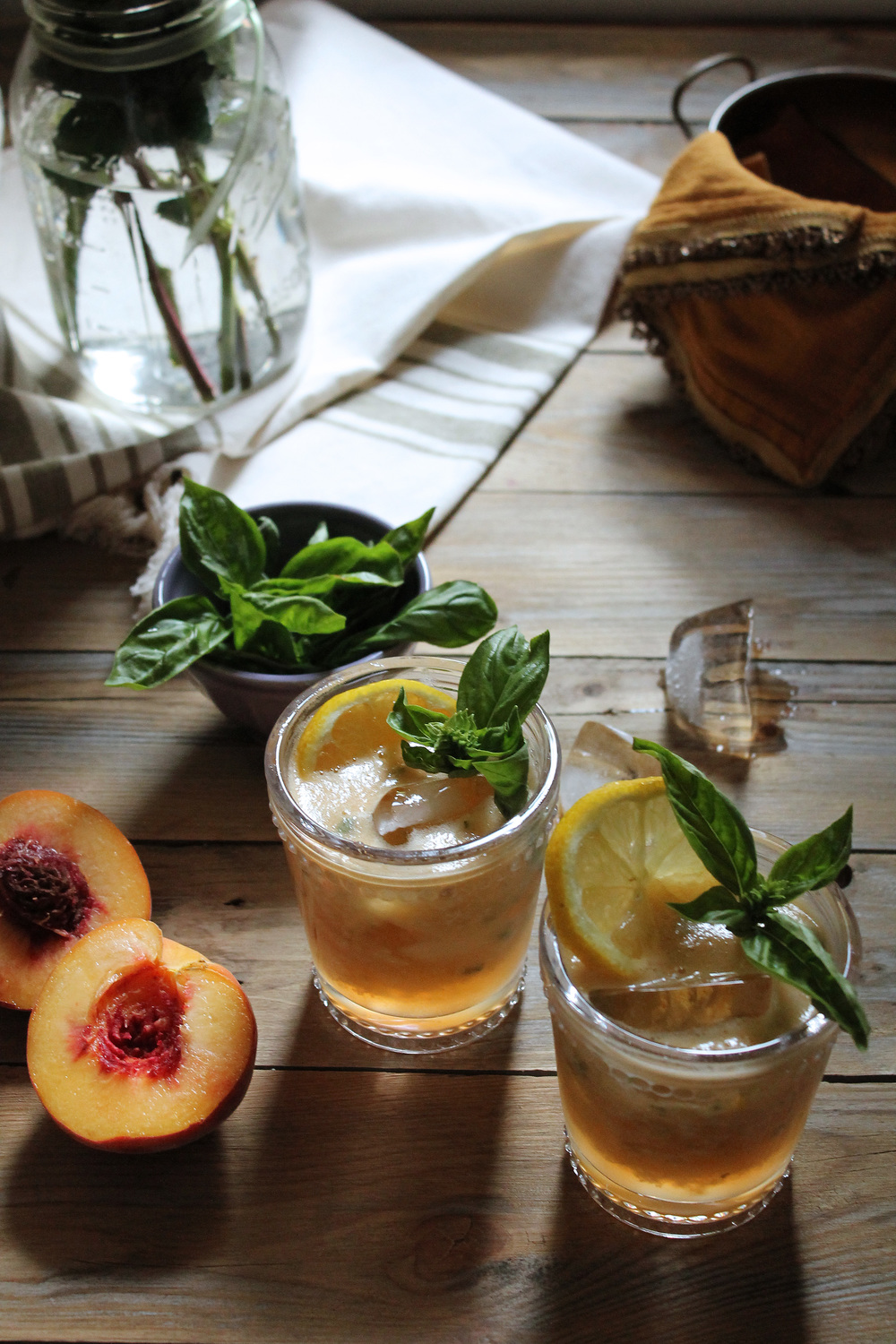 Peach and Basil Spritzer {Pedantic Foodie}