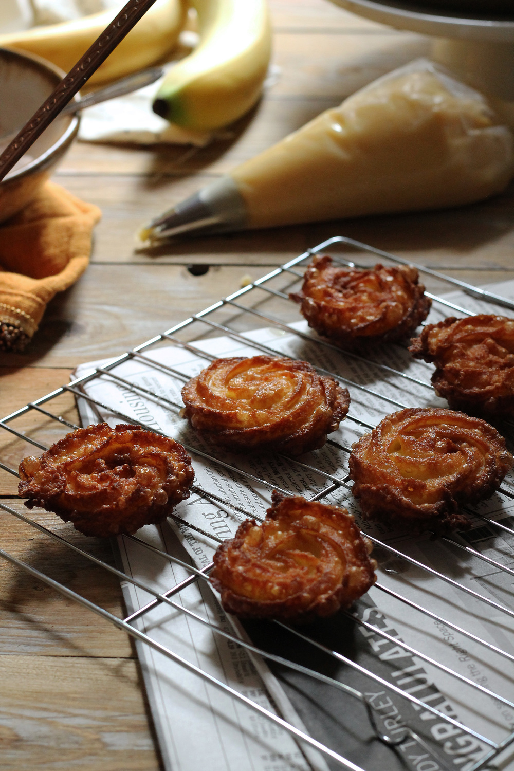 Churro Bites with Fresh Bananas & Cinnamon Caramel {Pedantic Foodie}