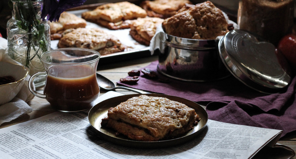 Apple Pie Scones {Pedantic Foodie}