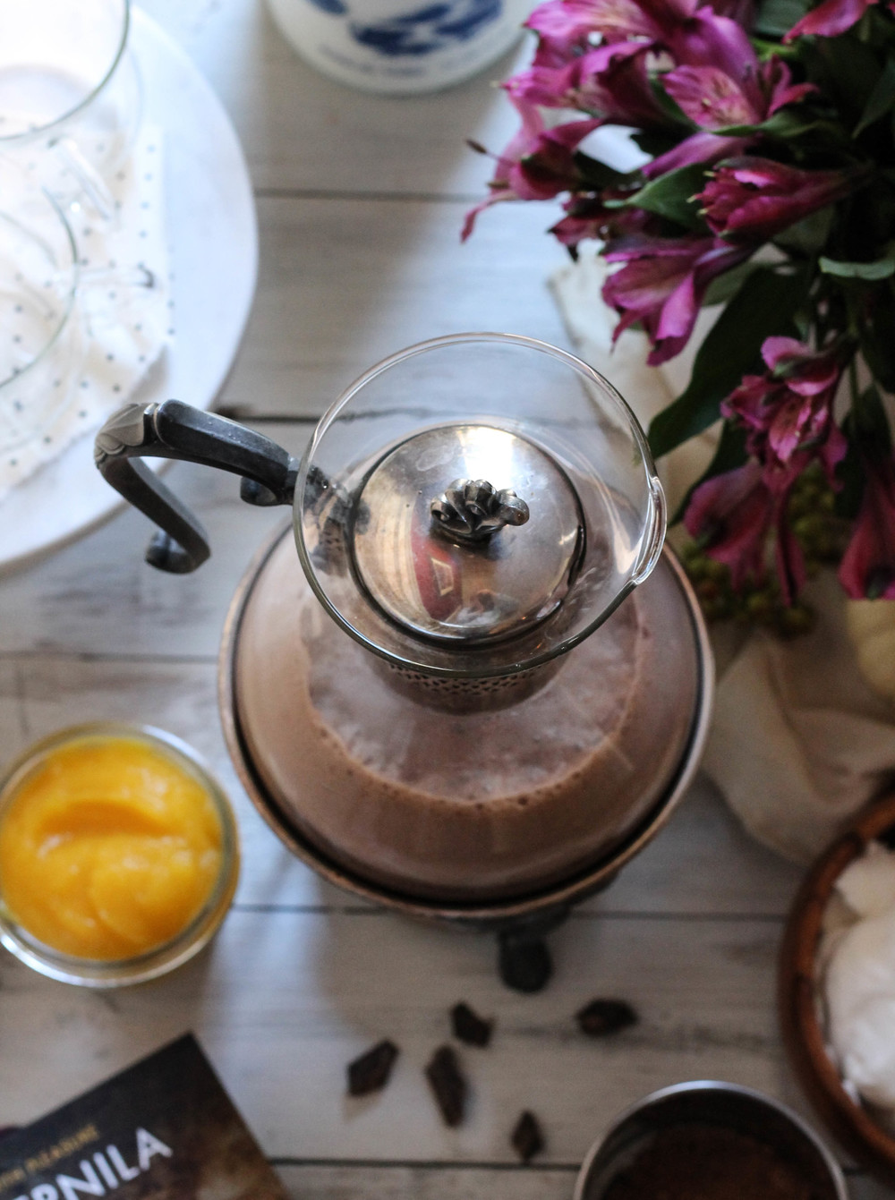 Spicy Pumpkin Hot Chocolate from The Homemade Kitchen {Pedantic Foodie}