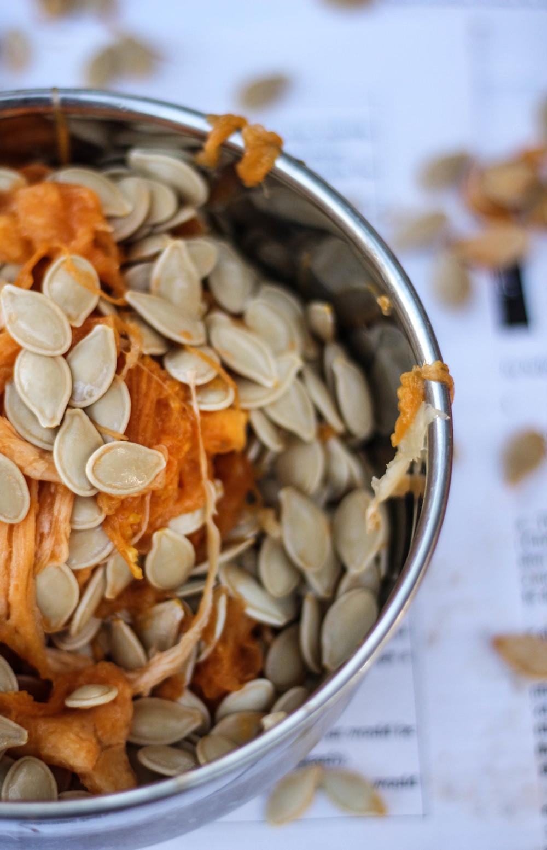 Chai-Spiced Pumpkin Seeds {Pedantic Foodie}
