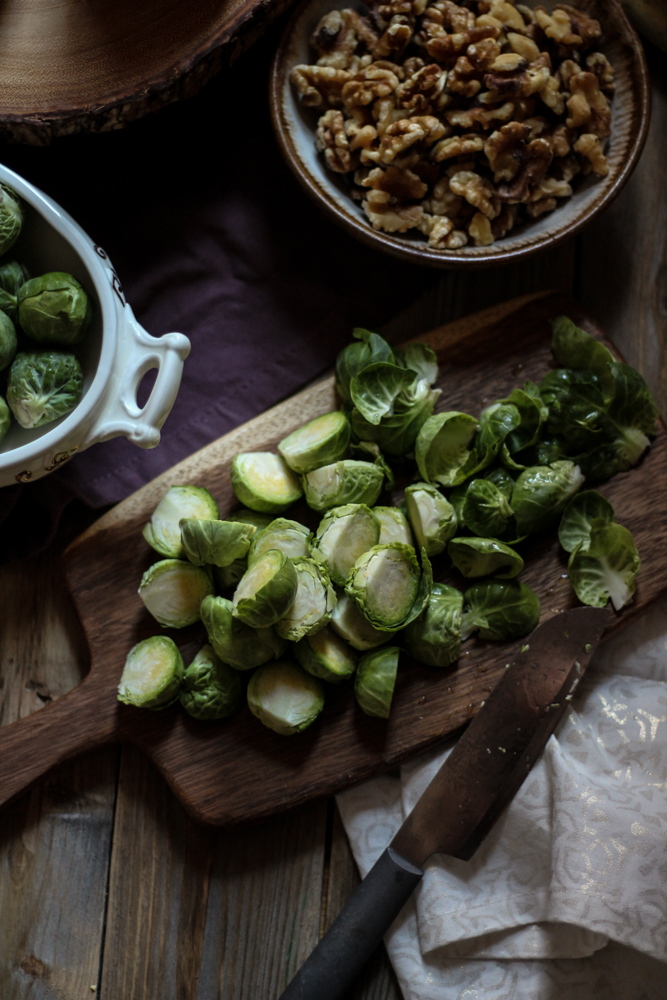 Pear, Bacon, and Brussel Sprout Warm Salad {Pedantic Foodie}