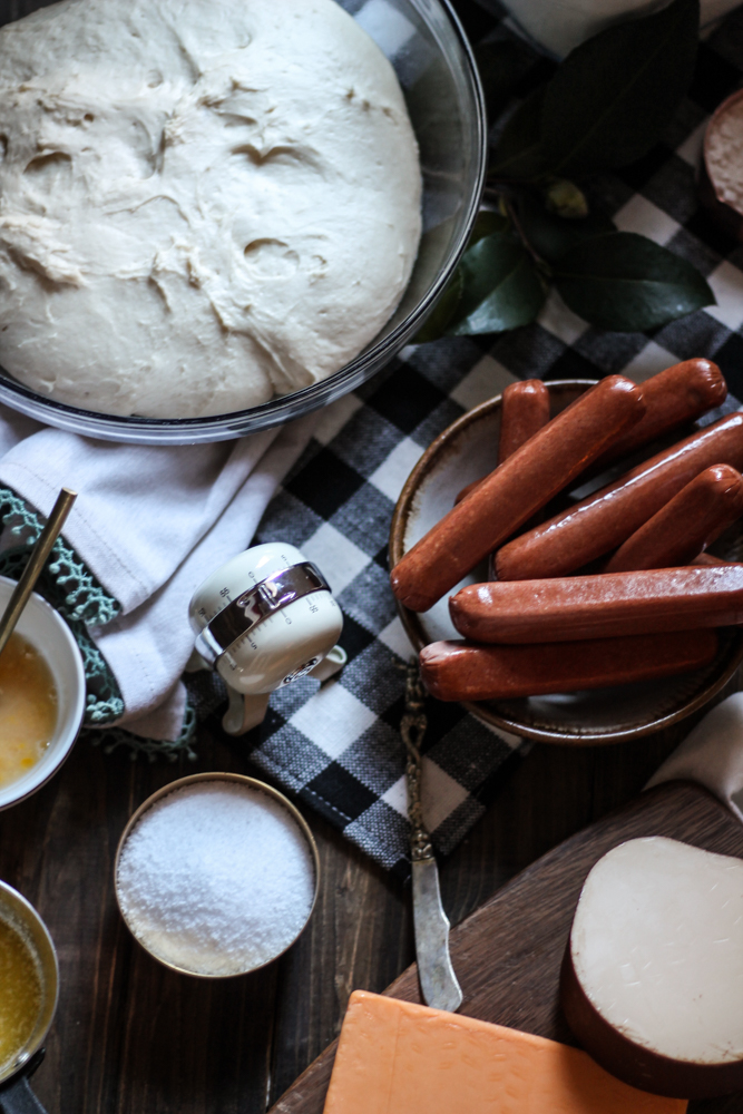 Pretzel Dogs with Smoked Gouda & Beer Dip {Pedantic Foodie}