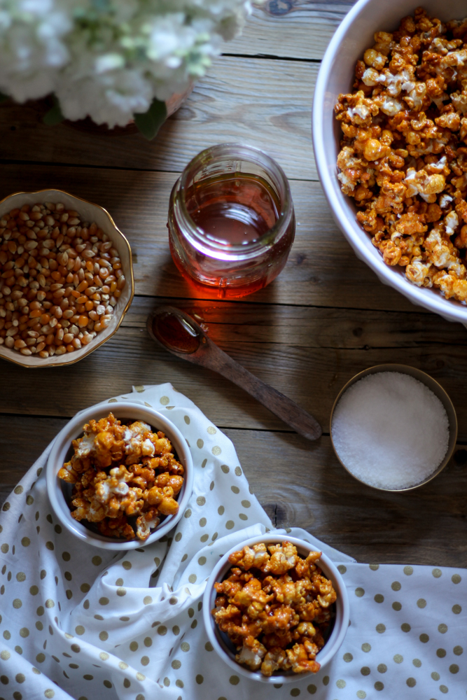 Honey, Lemon & Sea Salt Caramel Corn {Pedantic Foodie}