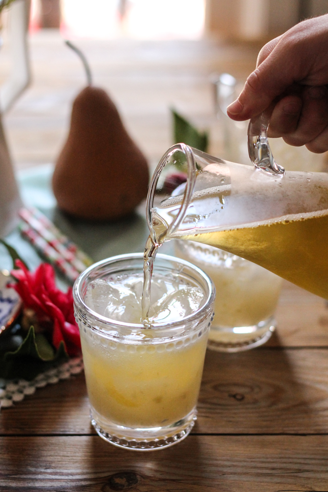 Poached Pear Spritzer {Pedantic Foodie}