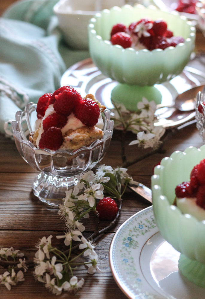 Raspberry Poppyseed & Cornmeal Shortcakes {Pedantic Foodie}