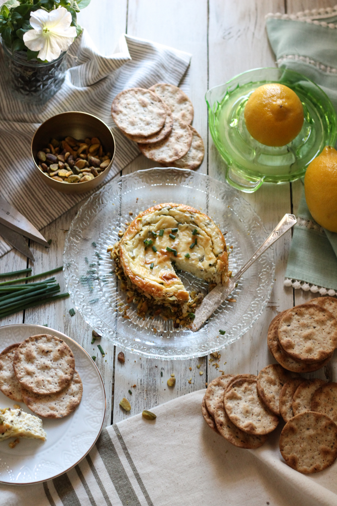 Savory Lemon & Chive Cheesecake {Pedantic Foodie}