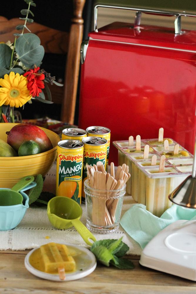 Mango & Mint Ginger Pops {Pedantic Foodie}