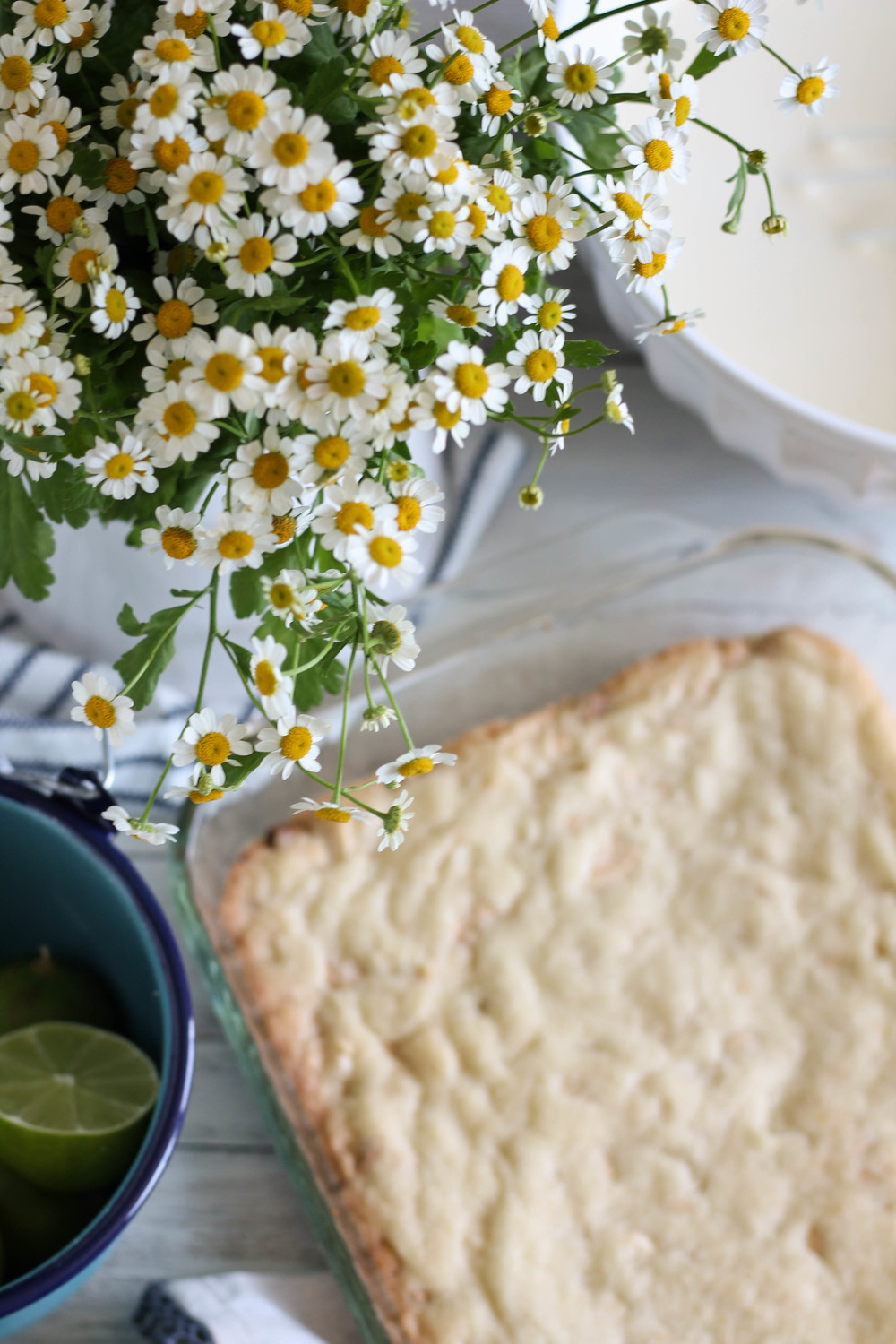 White Chocolate Macadamia Nut Lime Bars {Pedantic Foodie}